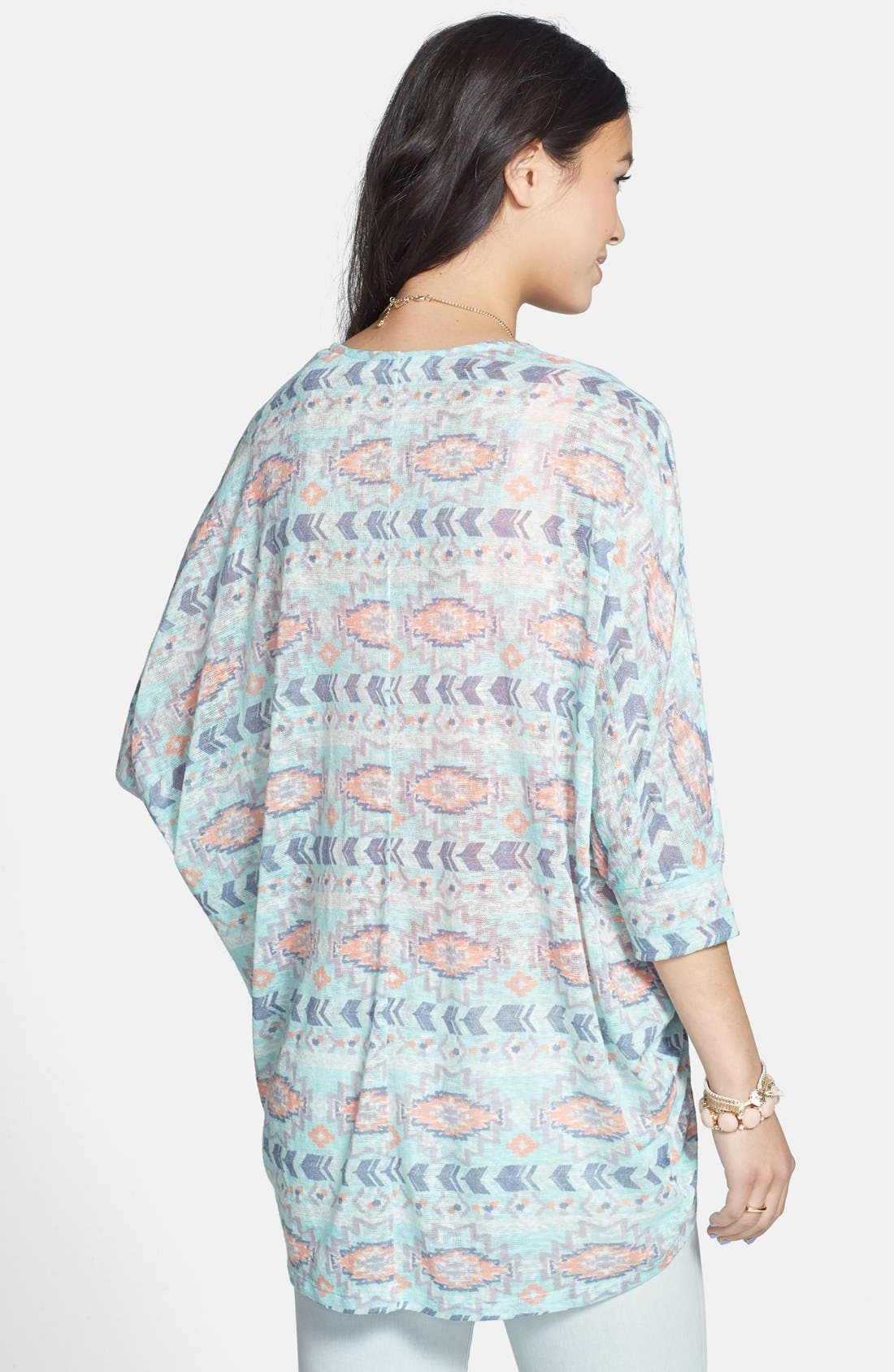 Alternate Image 2  - Painted Threads Dolman Sleeve Knit Cardigan (Juniors)