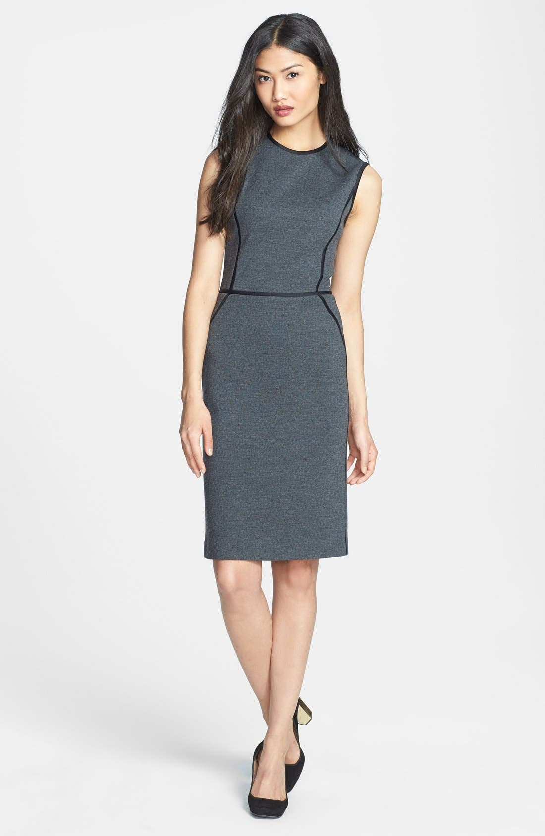 Alternate Image 1 Selected - Tory Burch 'Marcia' Knit Sheath Dress