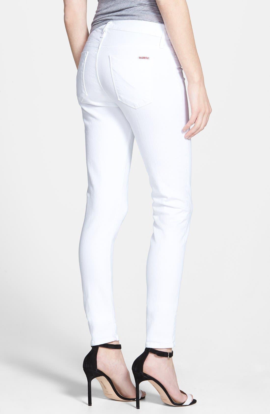 Alternate Image 2  - Hudson Jeans 'Nico' Skinny Stretch Jeans (White)