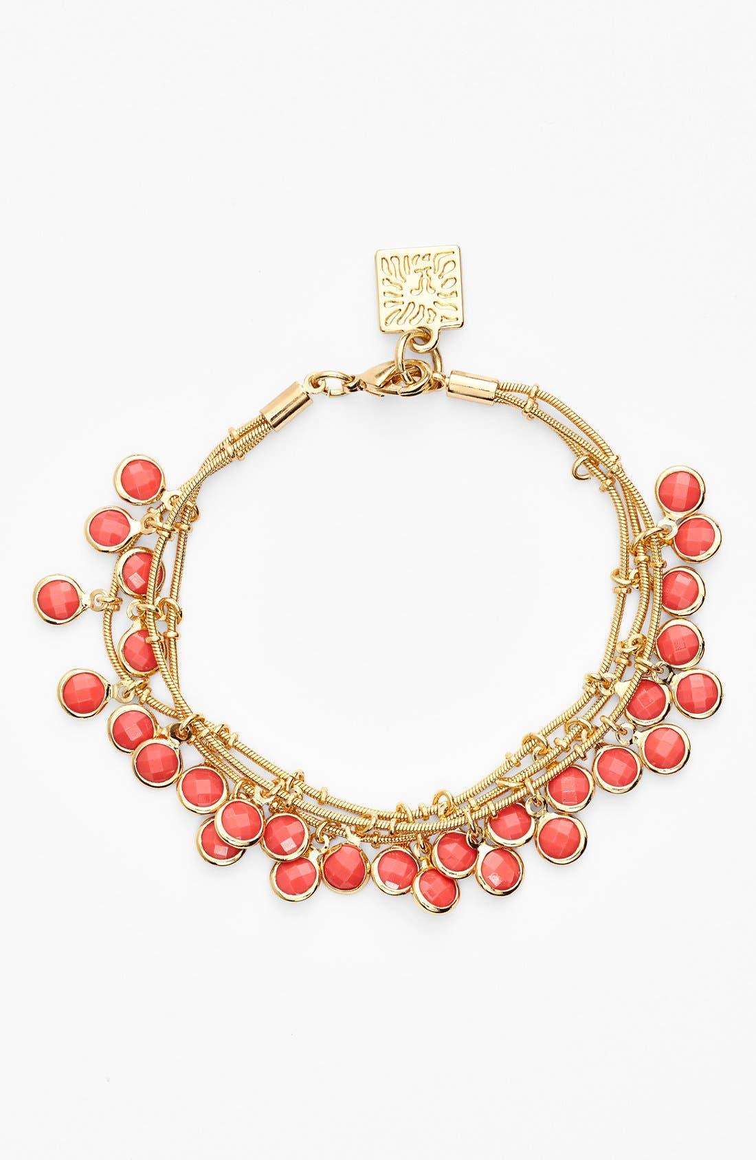 Alternate Image 1 Selected - Anne Klein Triple Row Beaded Bracelet