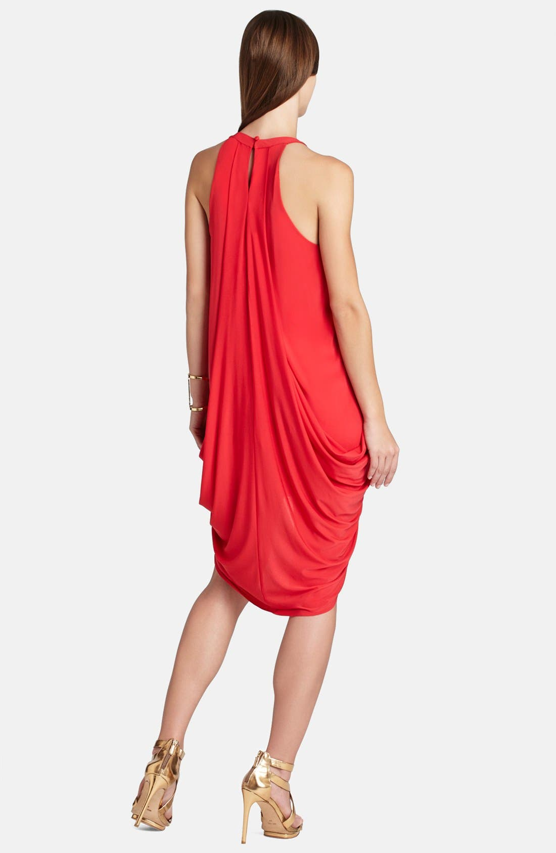 Alternate Image 2  - BCBGMAXAZRIA 'Aurora' Draped Split Front Jersey Dress