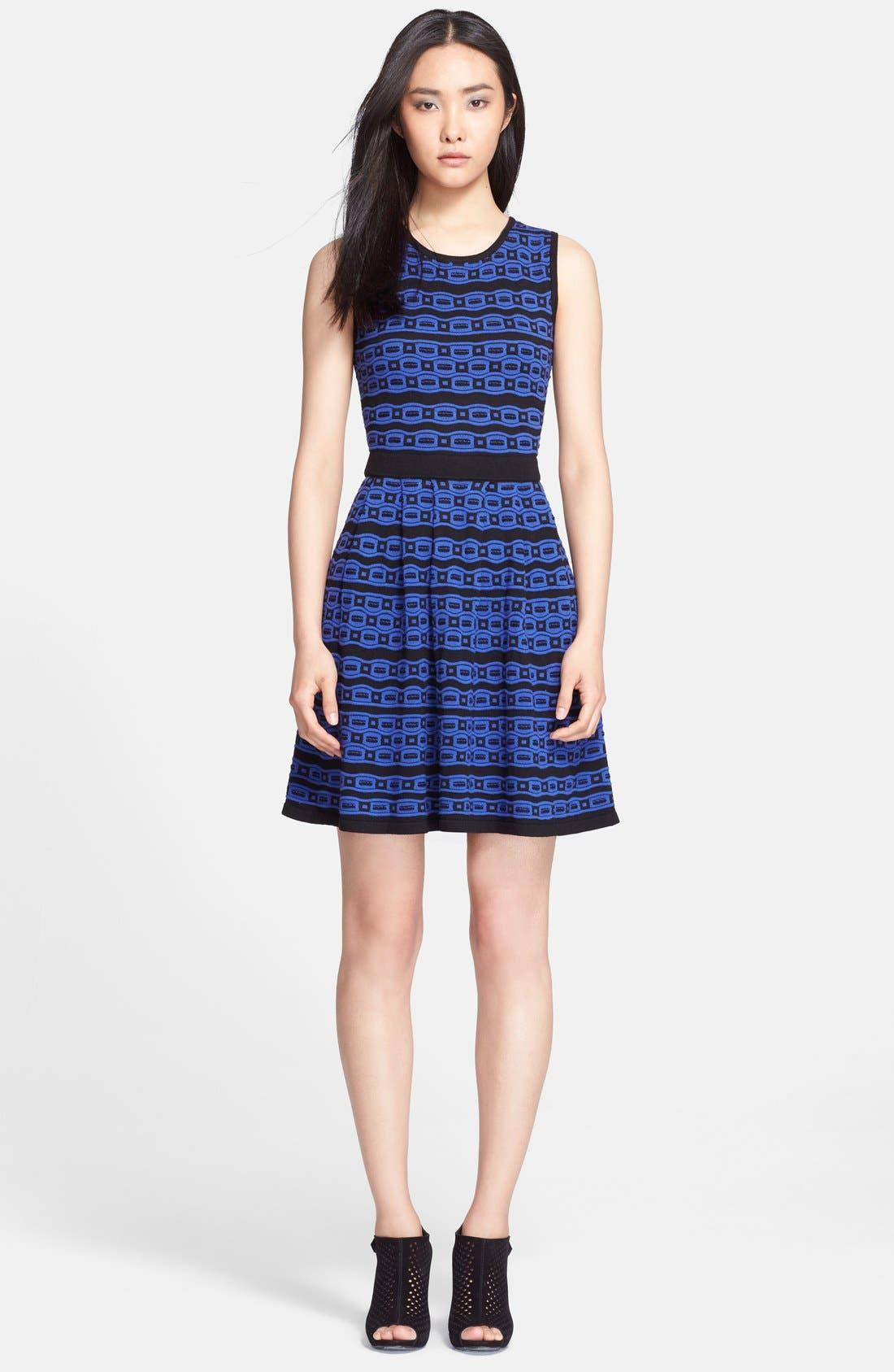Main Image - Mcginn 'Trinity' Geo Knit Fit & Flare Dress