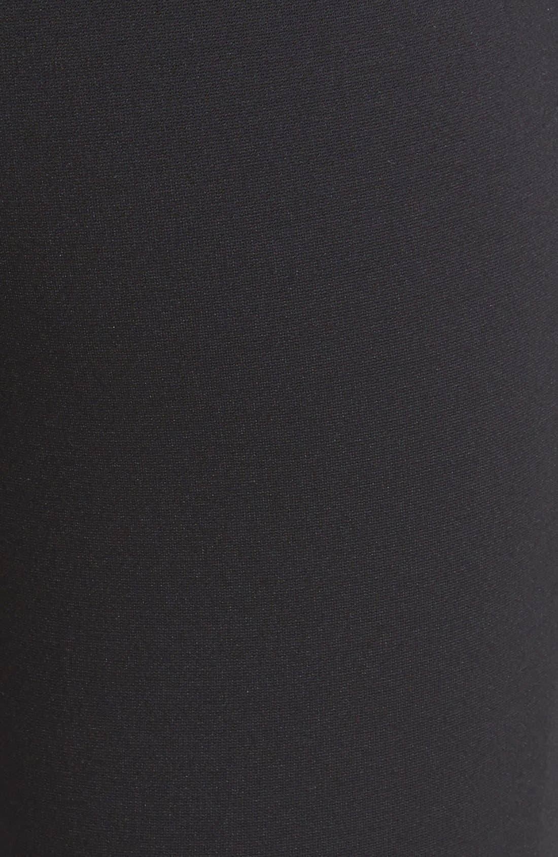 Two by Vince Camuto Faux Leather Trim Moto Leggings,                             Alternate thumbnail 3, color,                             Rich Black