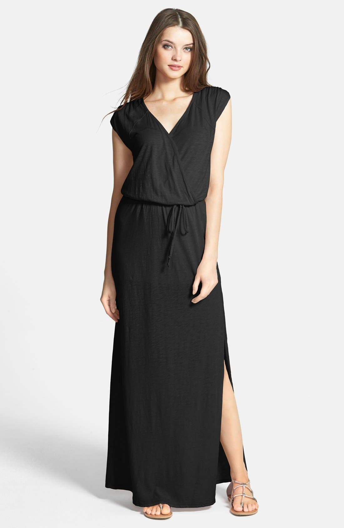 Alternate Image 1 Selected - LAmade Faux Wrap Cotton & Modal Maxi Dress