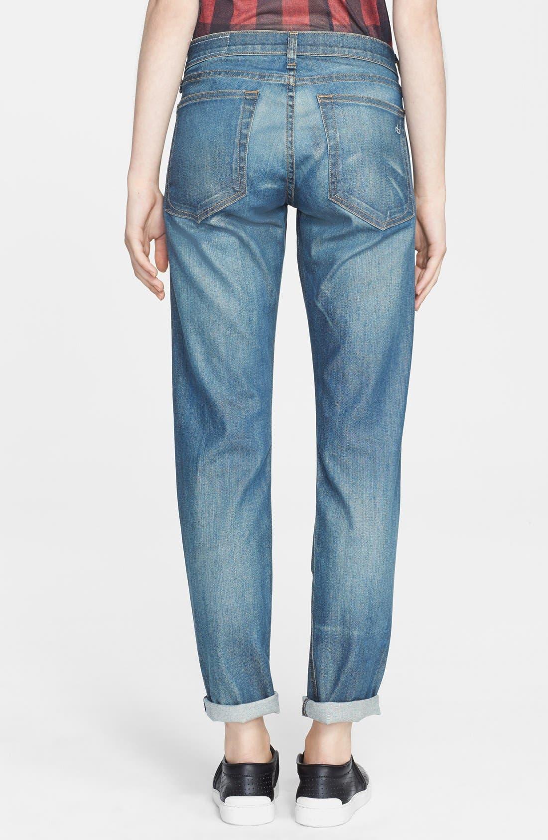 Alternate Image 2  - rag & bone/JEAN 'Dre' Boyfriend Skinny Jeans (Cannon)