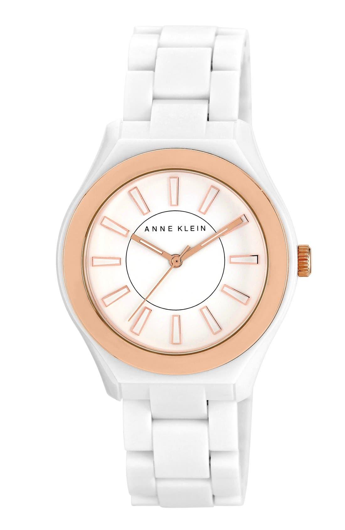 Main Image - Anne Klein Plastic Bracelet Watch, 38mm