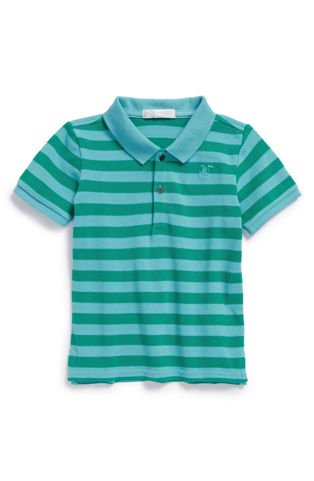 Alternate Image 1 Selected - Burberry Stripe Polo (Toddler Boys)