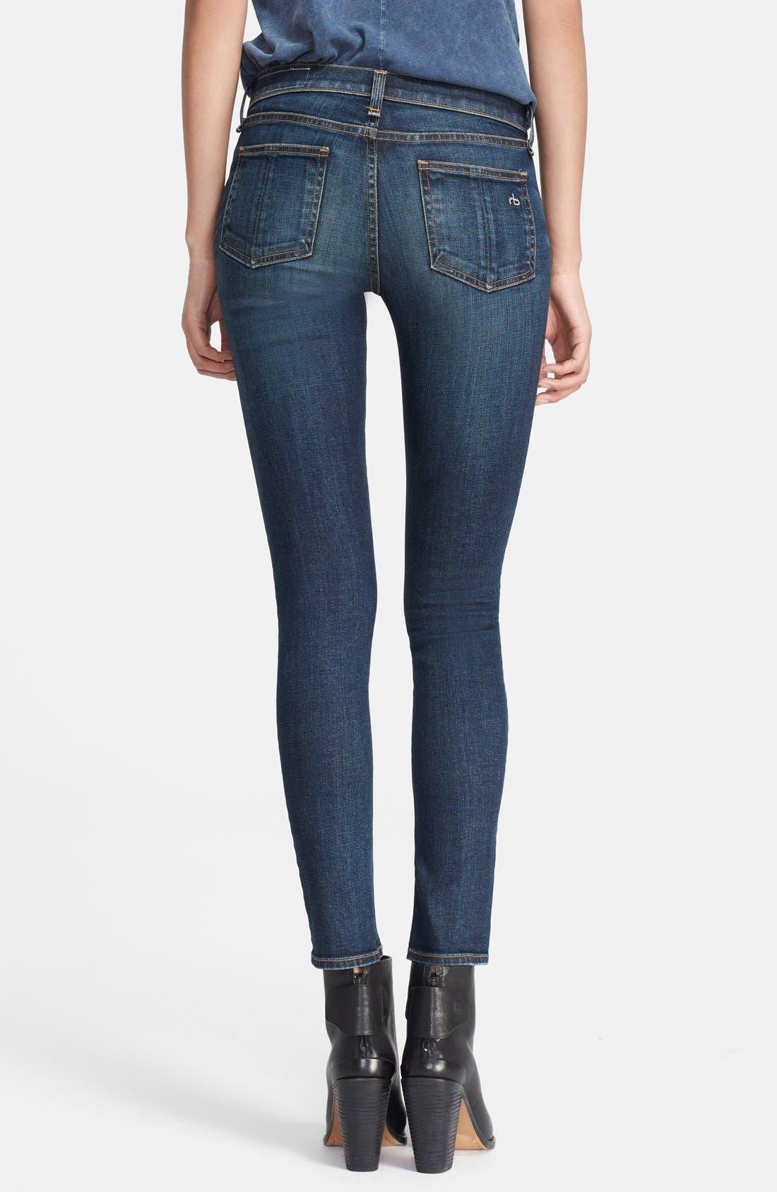 Alternate Image 2  - rag & bone/JEAN Skinny Stretch Jeans (Doheny)