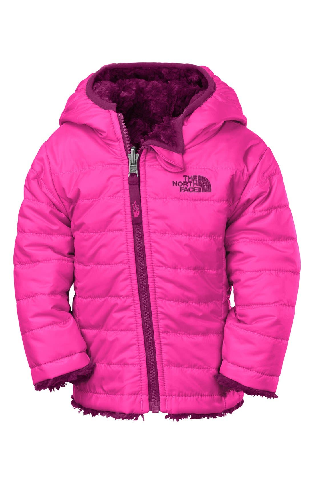 Alternate Image 1 Selected - The North Face 'Mossbud Swirl' Reversible Water Repellent Jacket (Baby Girls)