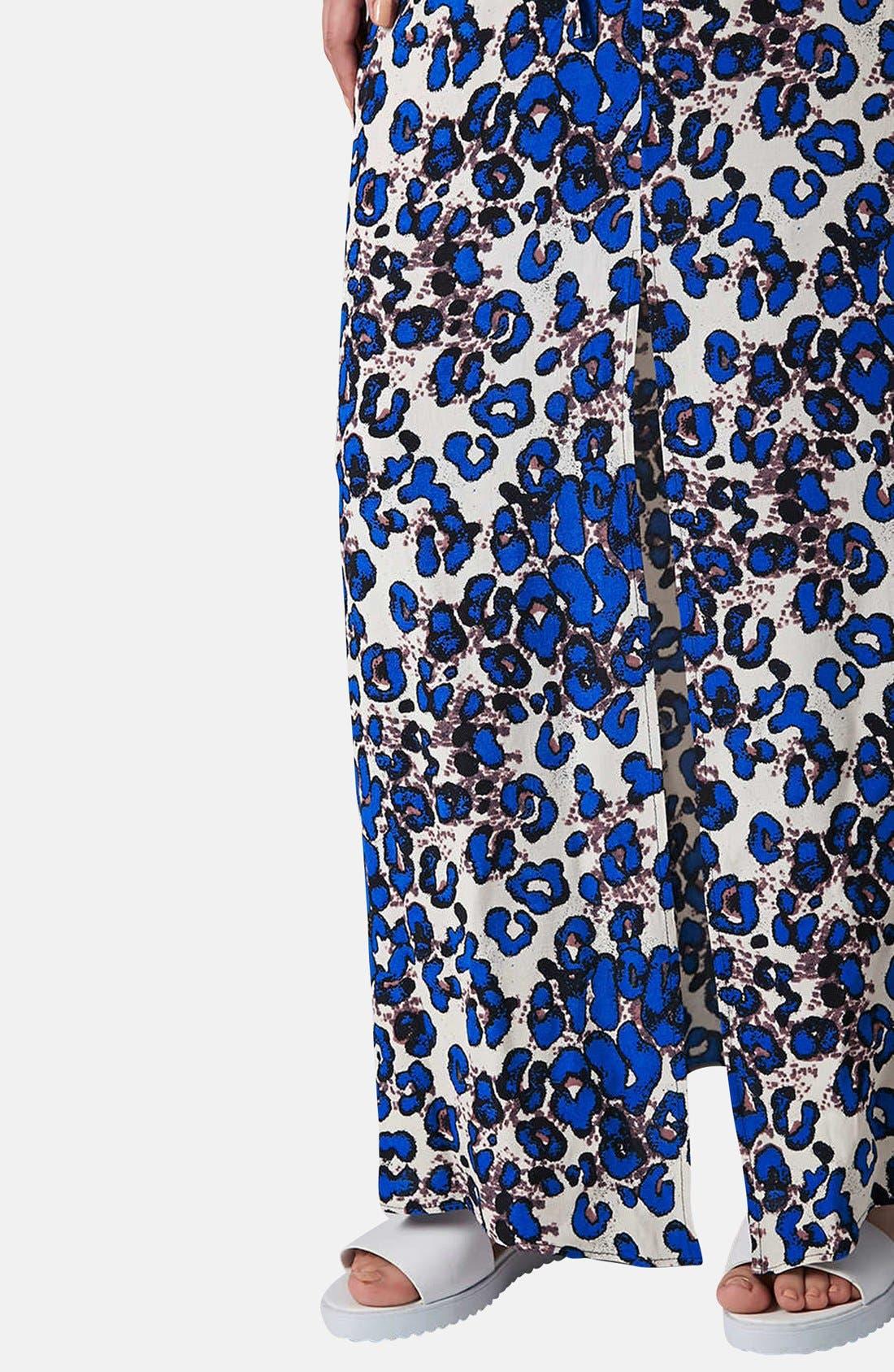 Print Cross Back Maxi Dress,                             Alternate thumbnail 4, color,                             Blue