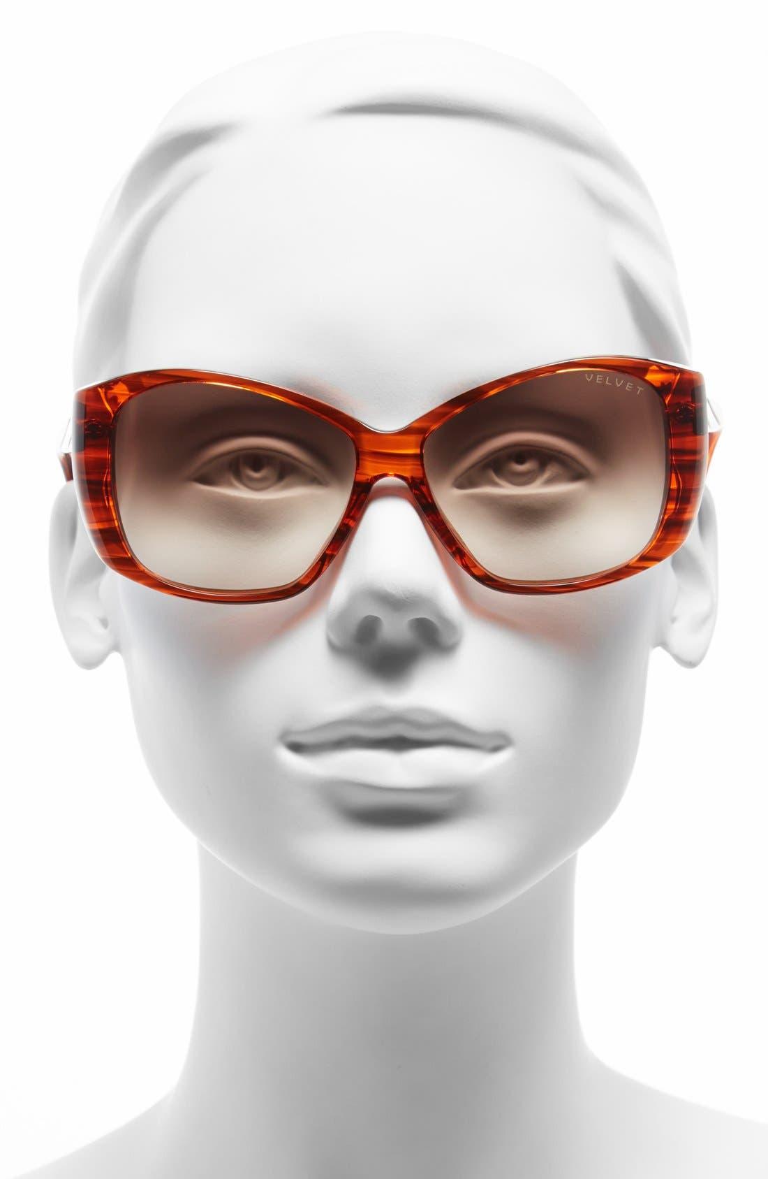 Alternate Image 2  - Velvet Eyewear 'Lucy' 56mm Sunglasses