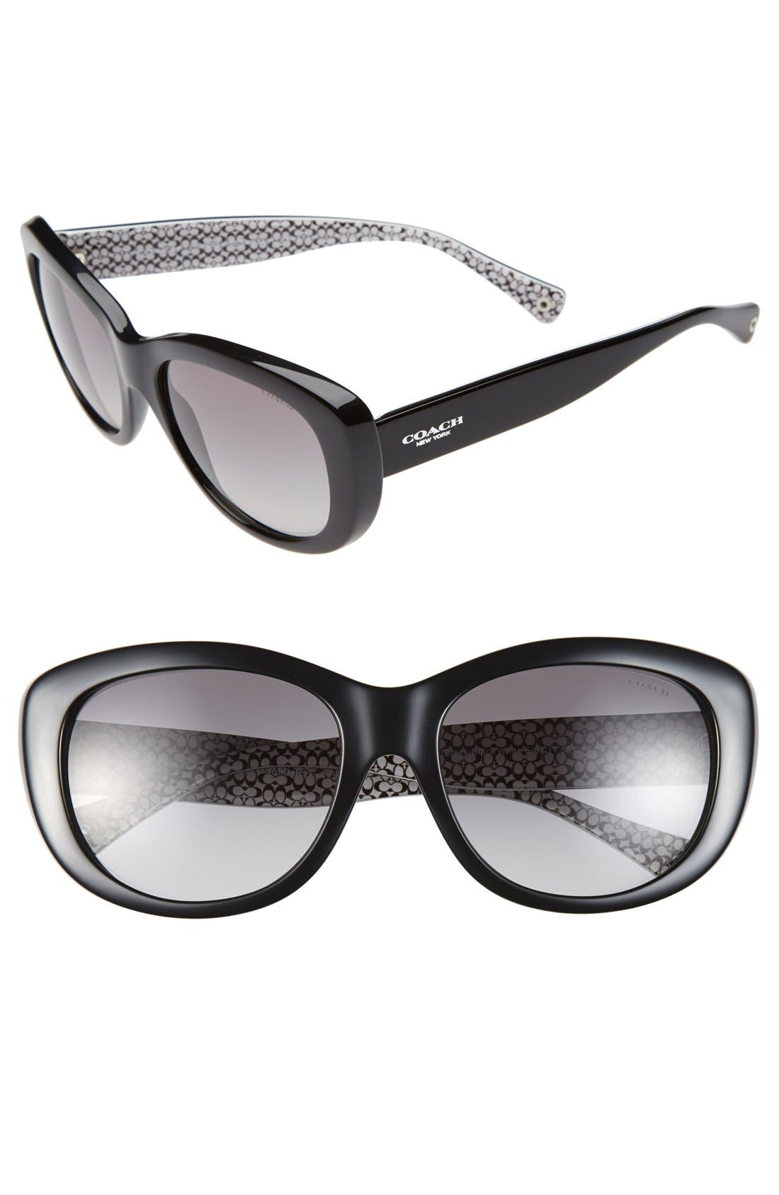 Alternate Image 1 Selected - COACH 58mm Cat Eye Sunglasses
