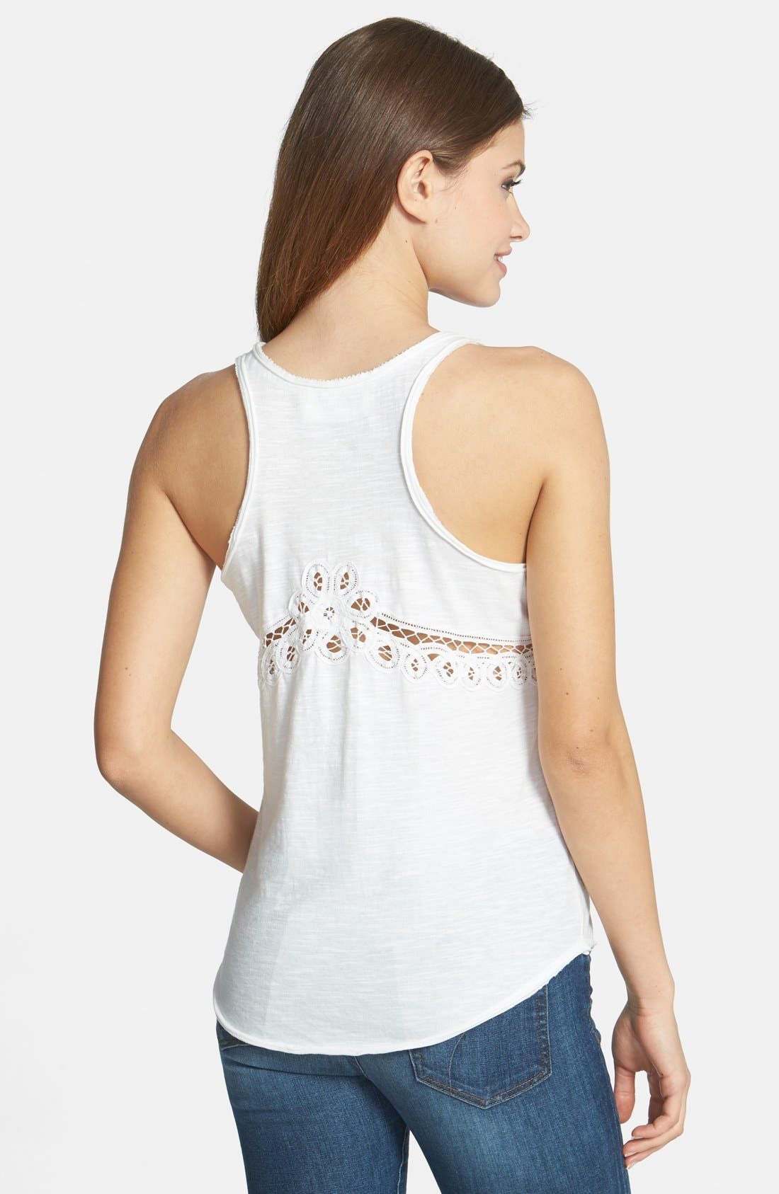 Alternate Image 2  - Two by Vince Camuto Eyelet Detail Racerback Tank