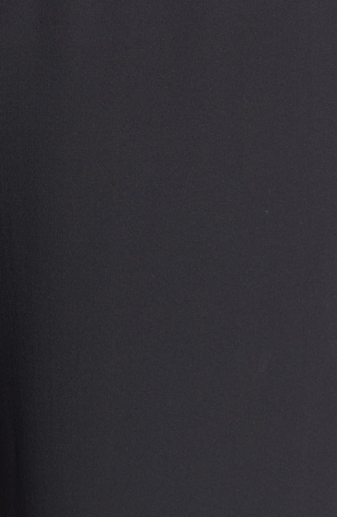 Alternate Image 3  - Eileen Fisher Slit Hem Silk Georgette Crepe Wide Leg Pants (Plus Size)