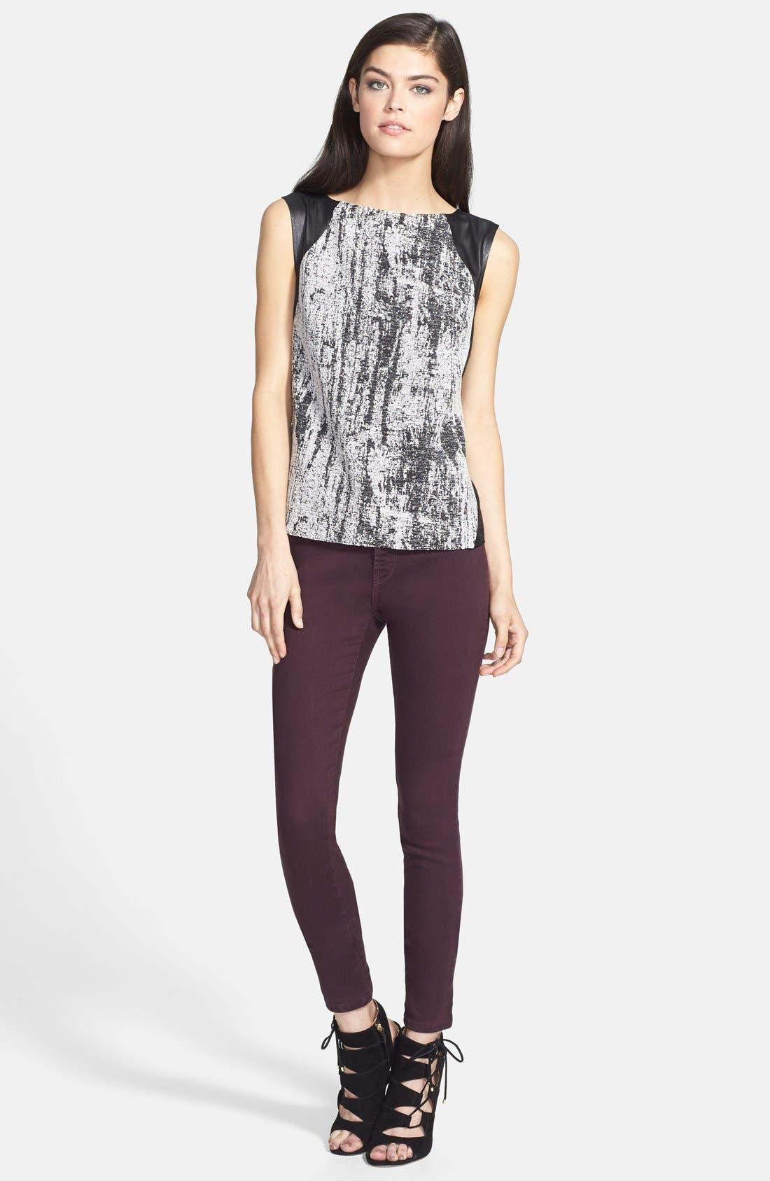 Alternate Image 4  - J Brand '485' Skinny Jeans (Dark Plum)