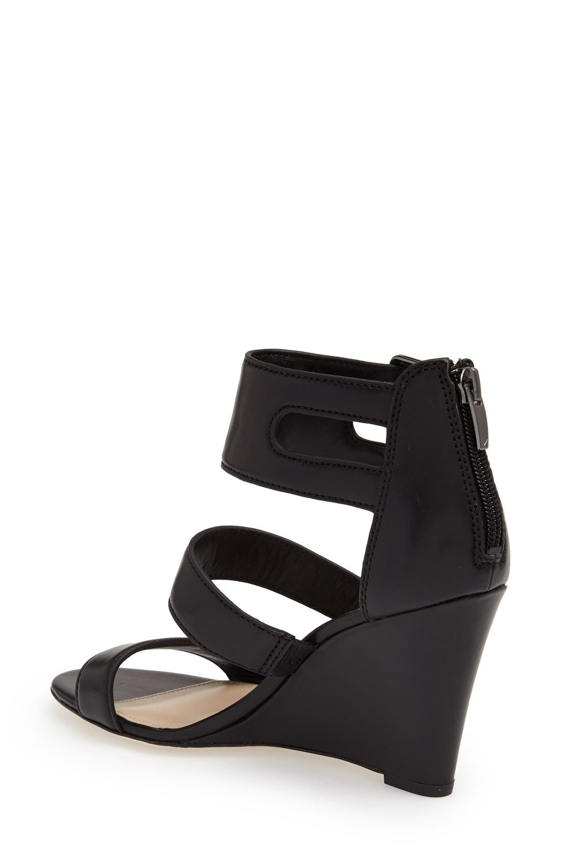 Alternate Image 2  - Via Spiga 'Fernanda' Wedge Leather Sandal (Women)
