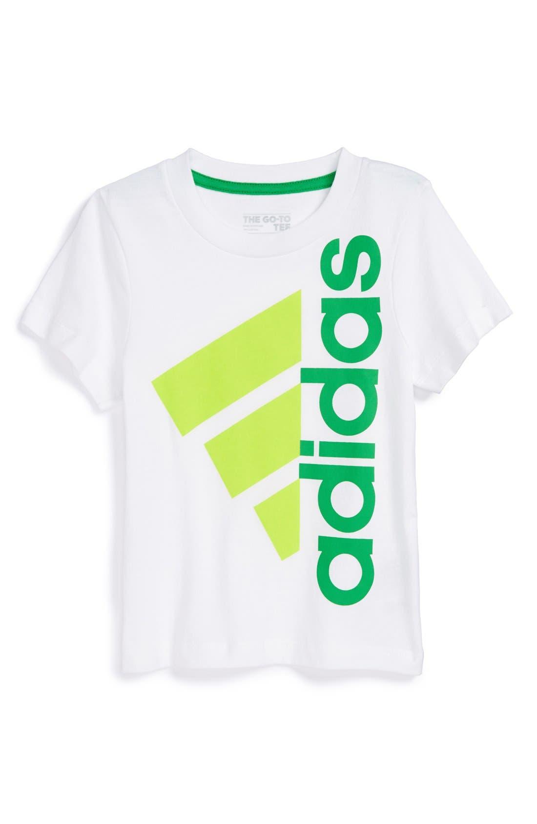 Alternate Image 1 Selected - adidas 'Bold Performance' T-Shirt (Toddler Boys)