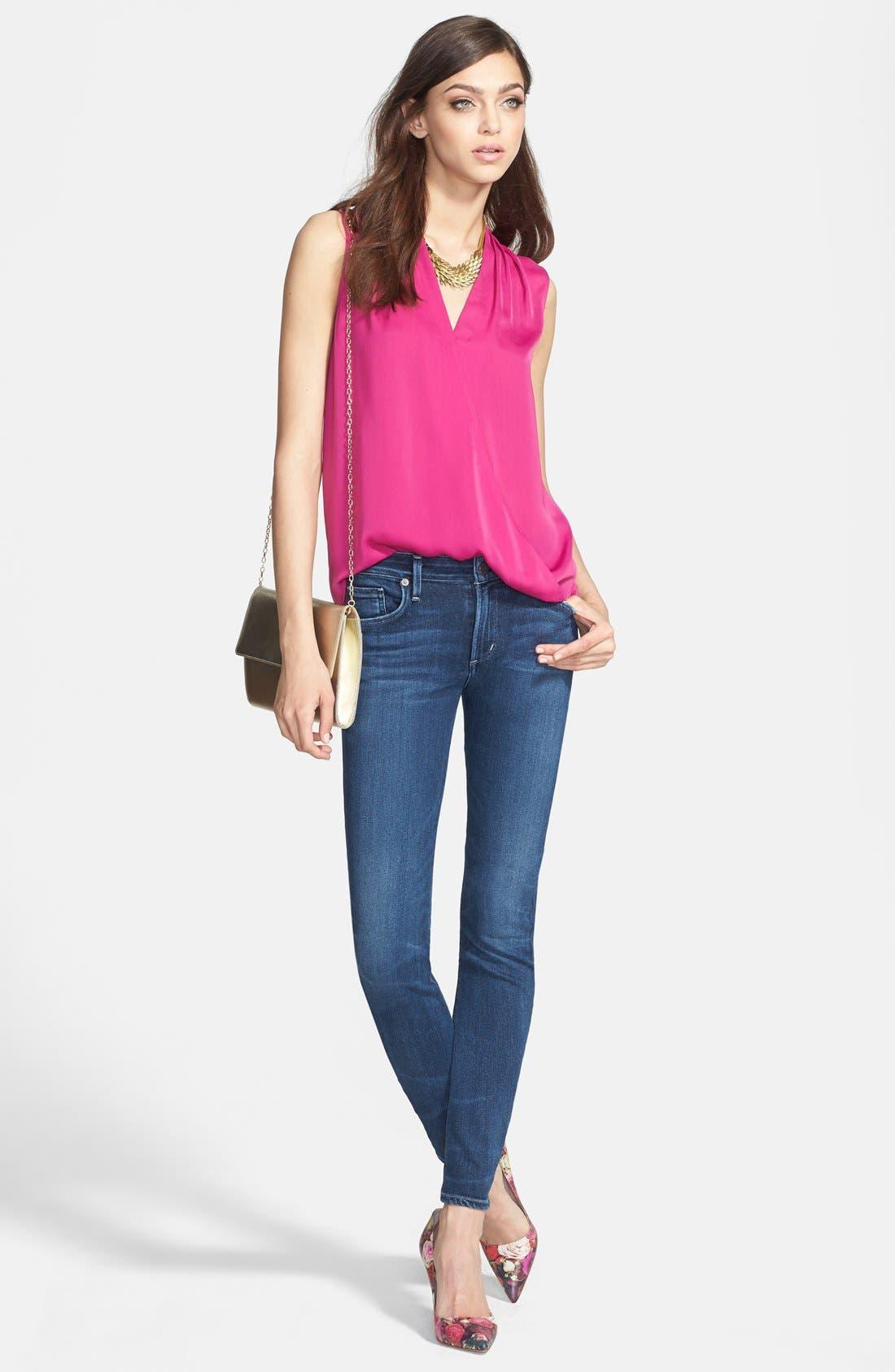 Arielle Slim Jeans,                             Alternate thumbnail 6, color,                             Hewett