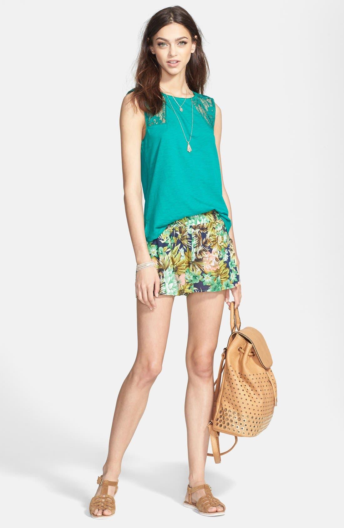 Alternate Image 4  - Hinge® Lace Inset Slub Knit Tank