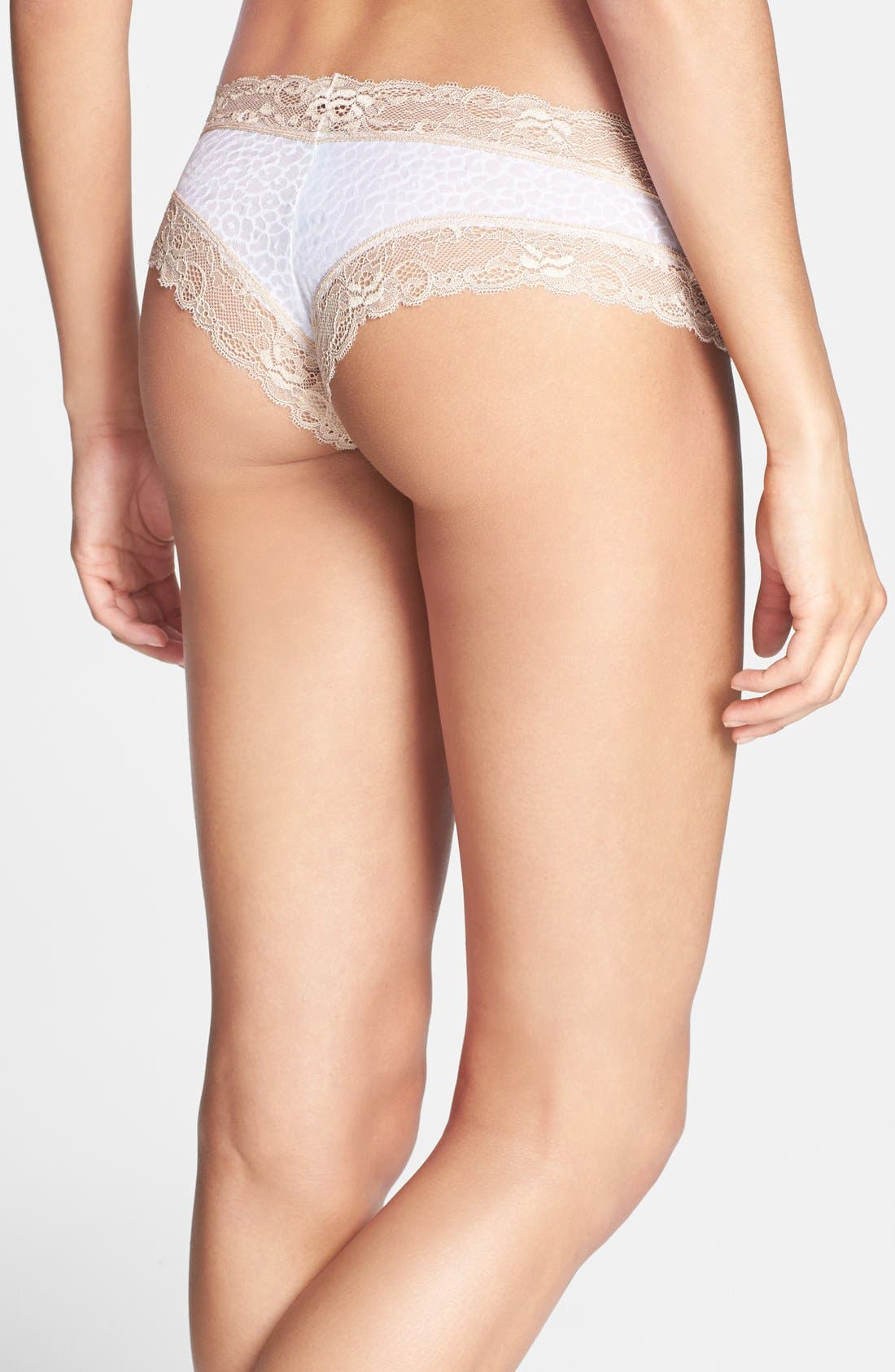 Alternate Image 2  - Honeydew Intimates 'Marti' Lace Trim Microfiber Hipster Briefs