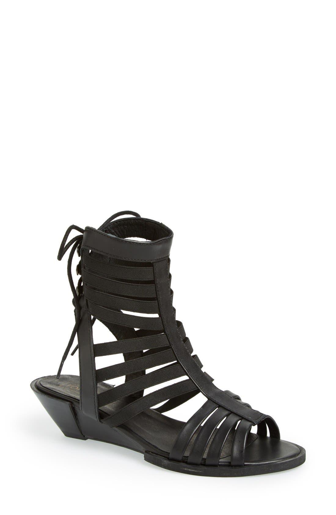 Alternate Image 1 Selected - Topshop 'Foil' Gladiator Sandal (Women)