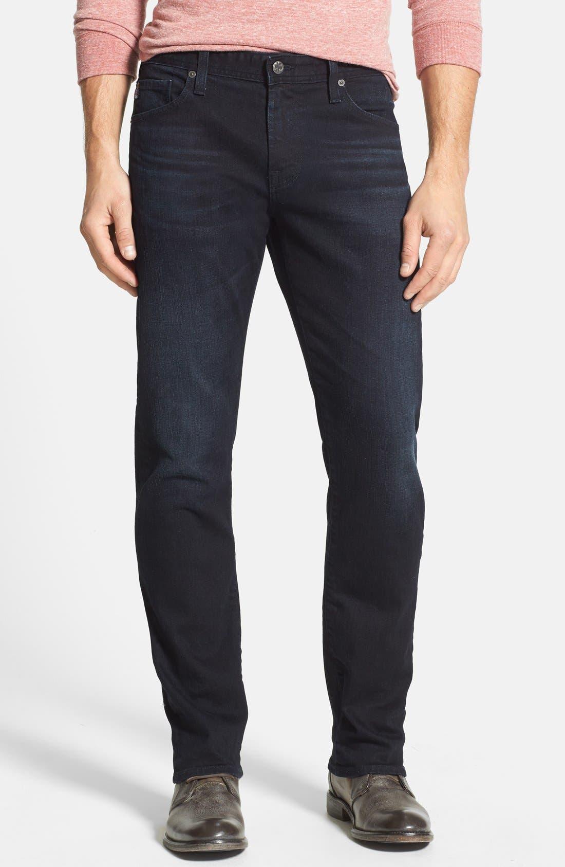Alternate Image 1 Selected - AG 'Graduate' Tailored Straight Leg Jeans (3 Years Deep Midnight)