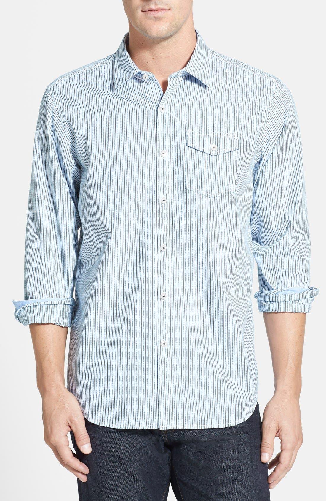 Alternate Image 1 Selected - Tommy Bahama Denim 'Tres Stripe' Island Modern Fit Sport Shirt