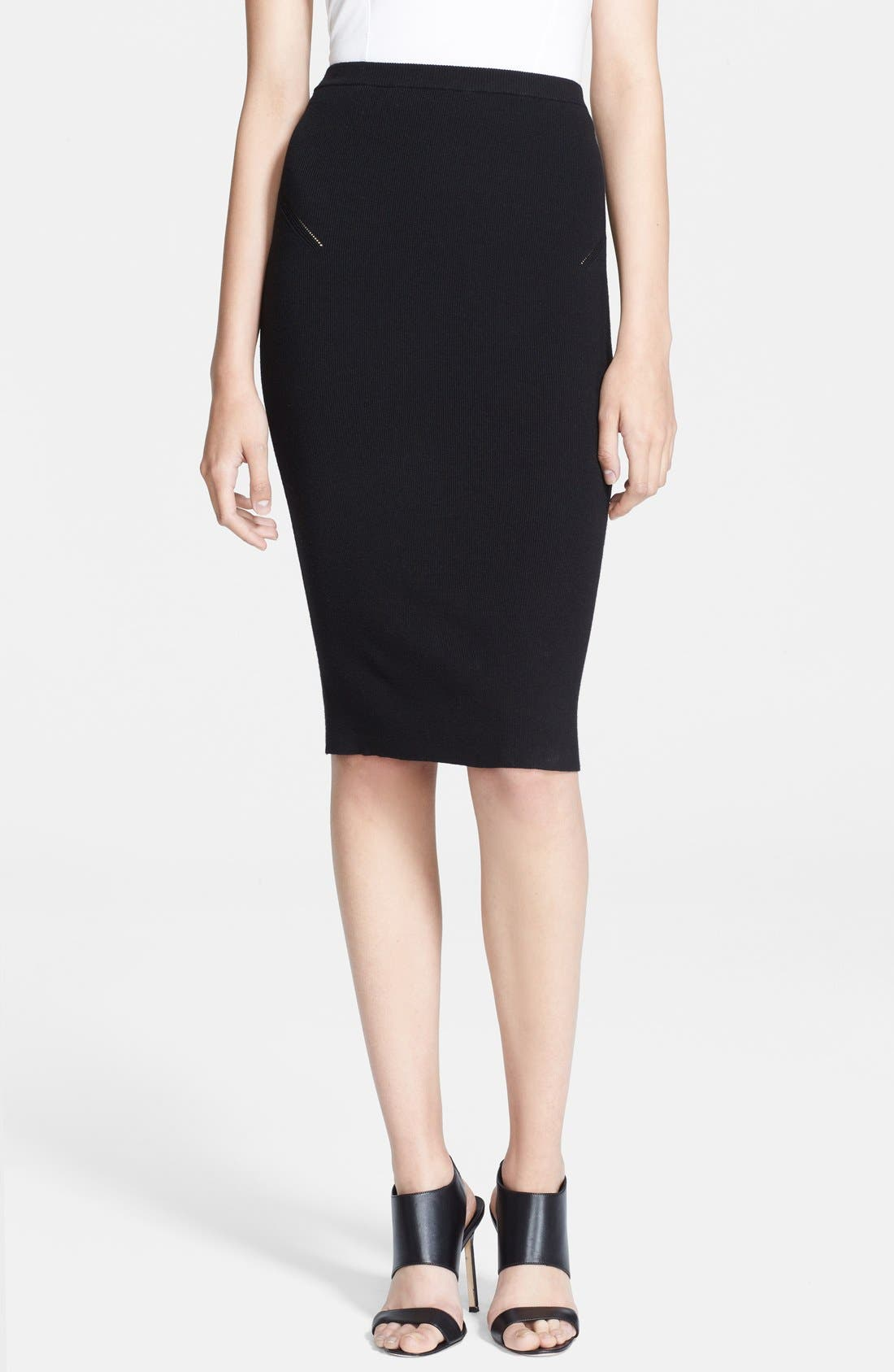 Alternate Image 1 Selected - Haute Hippie Rib Knit Pencil Skirt