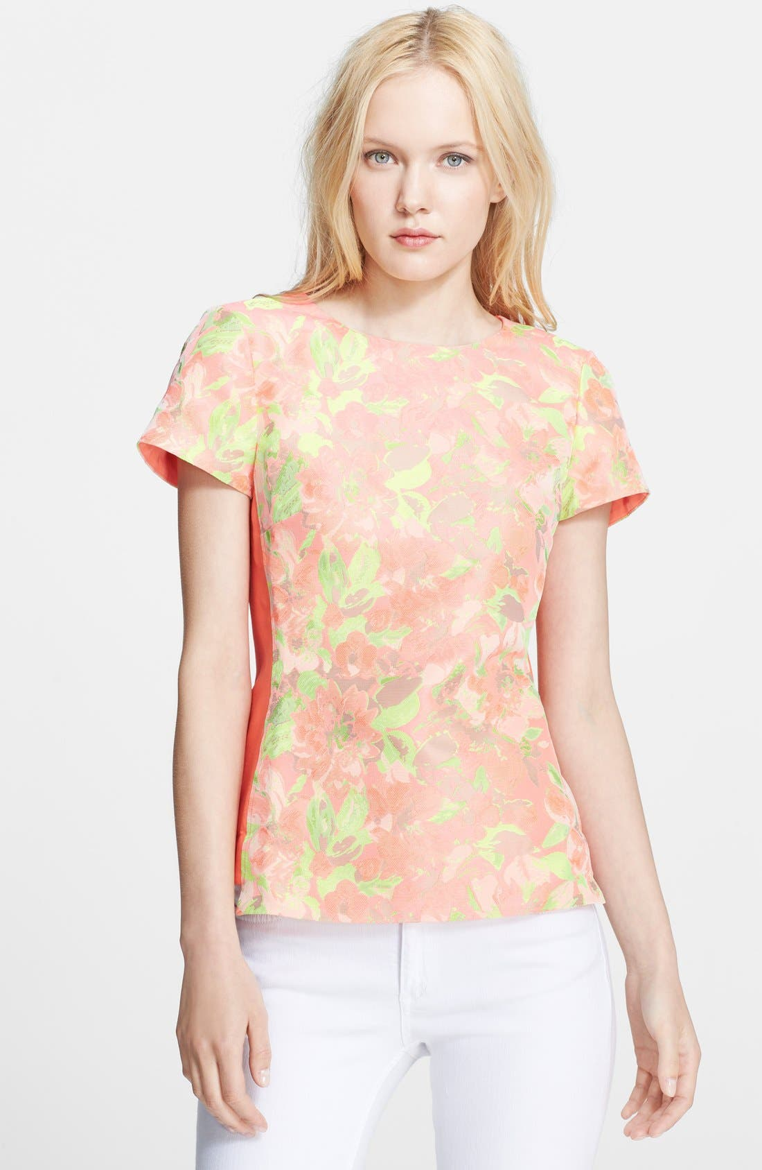 Alternate Image 1 Selected - Ted Baker London 'Auben' Jacquard Top