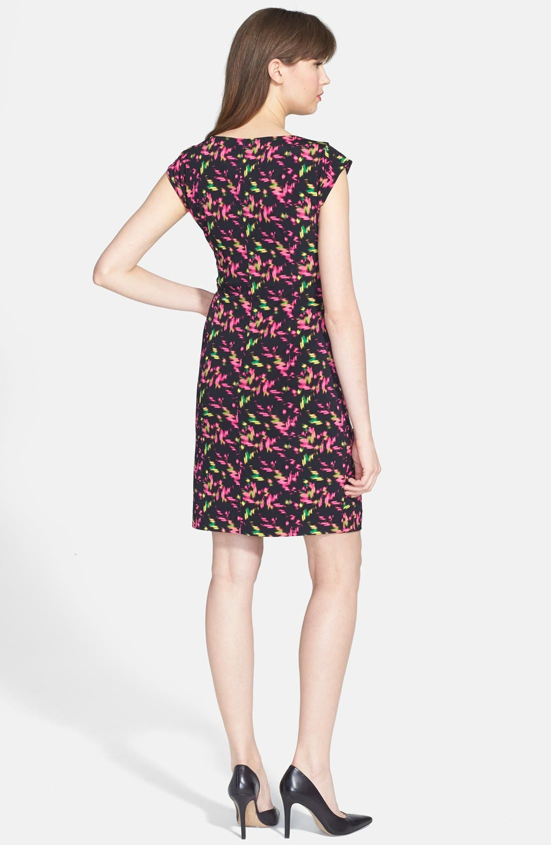 Alternate Image 2  - Chaus Side Ruched Cap Sleeve Dress