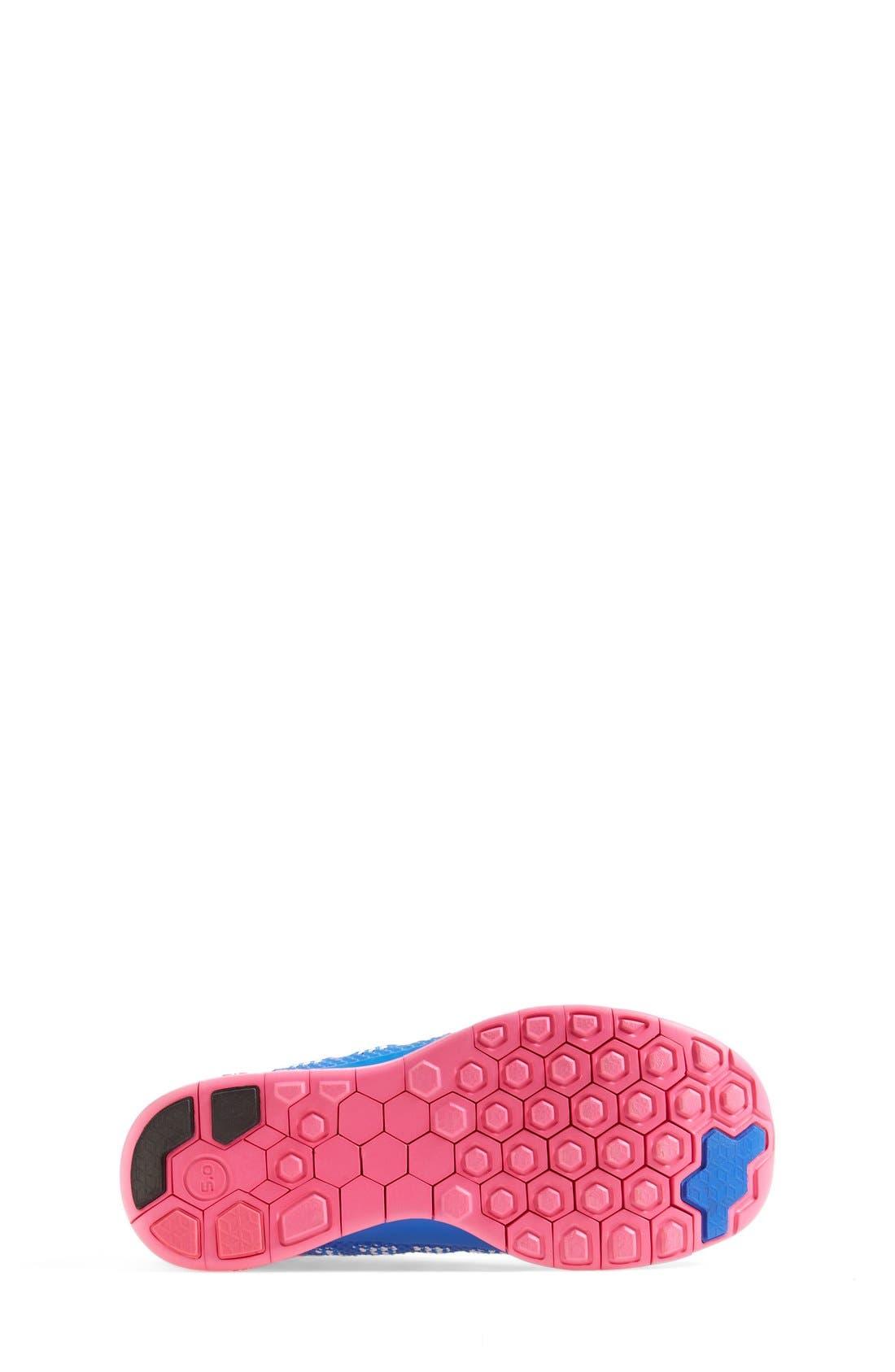 Alternate Image 4  - Nike 'Free 5.0' Running Shoe (Big Kid)
