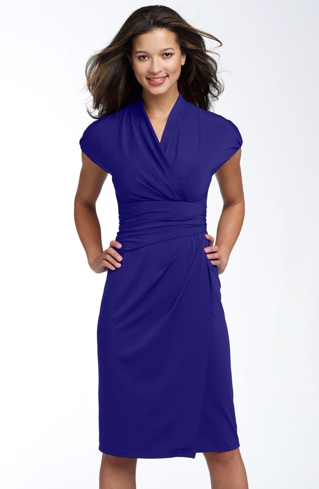 Main Image - Ivy & Blu Ruched Faux Wrap Dress