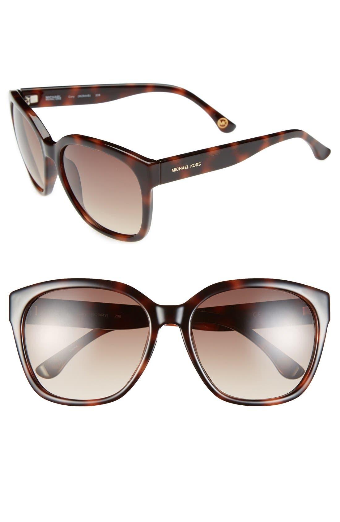 Alternate Image 1 Selected - MICHAEL Michael Kors 58mm Retro Sunglasses