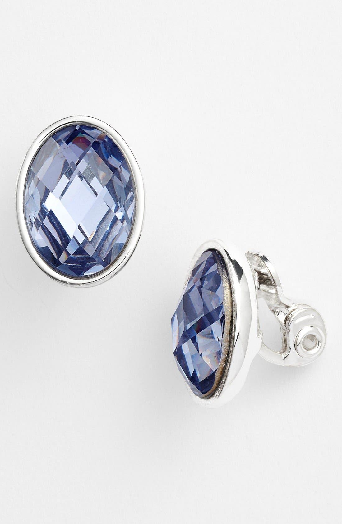 Alternate Image 1 Selected - Anne Klein Stone Clip Earrings