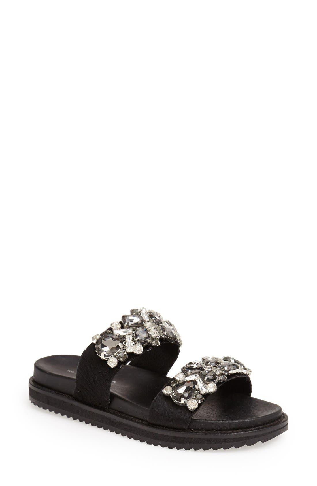 Alternate Image 1 Selected - KG Kurt Geiger 'Monarch' Embellished Calf Hair Slide Sandal (Women)