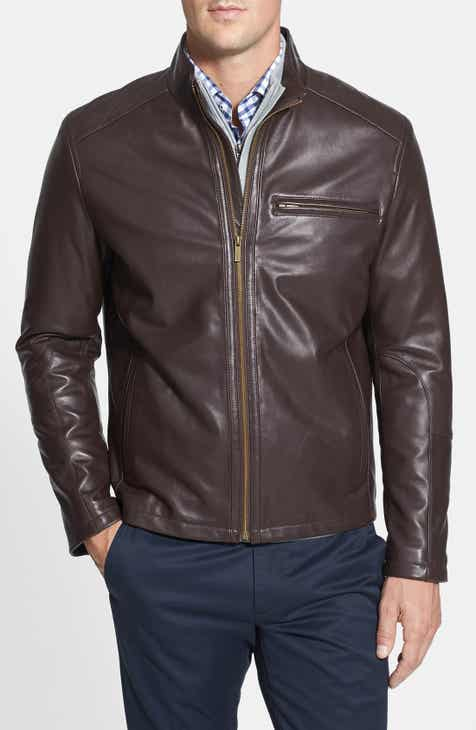 Cole Haan Lambskin Leather Moto Jacket (Online Only) 7e3b21051f5
