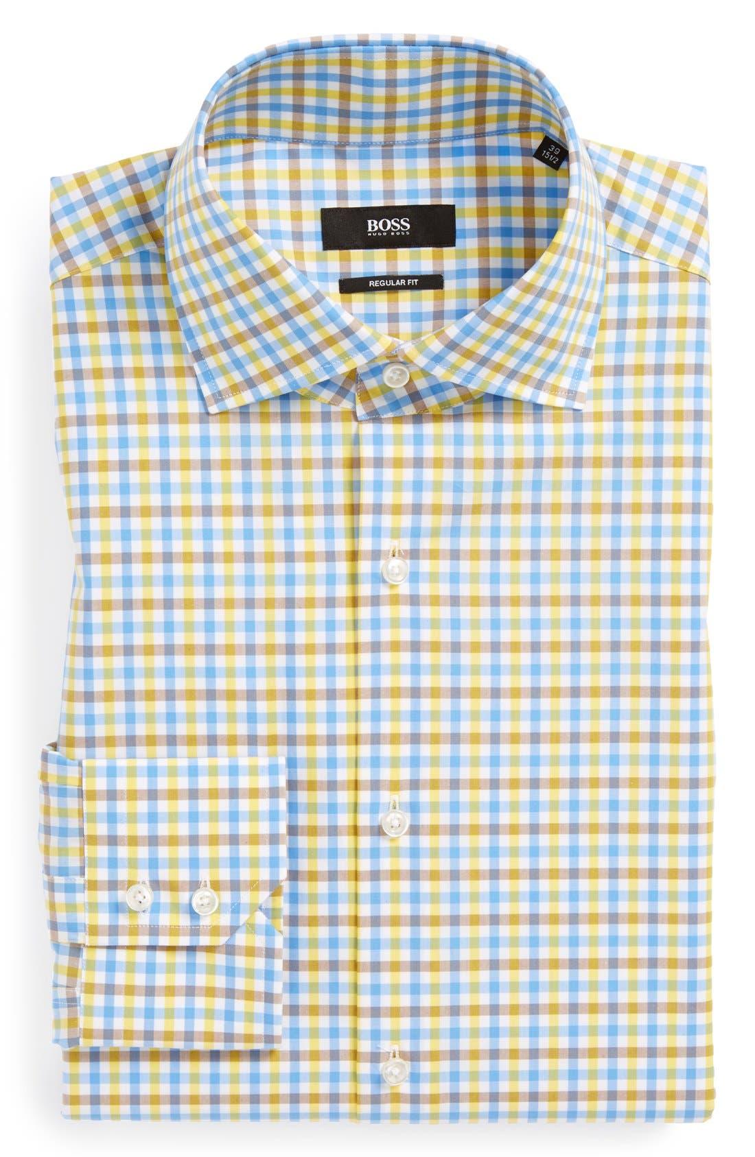 Main Image - BOSS HUGO BOSS 'Gerald' WW Regular Fit Check Dress Shirt