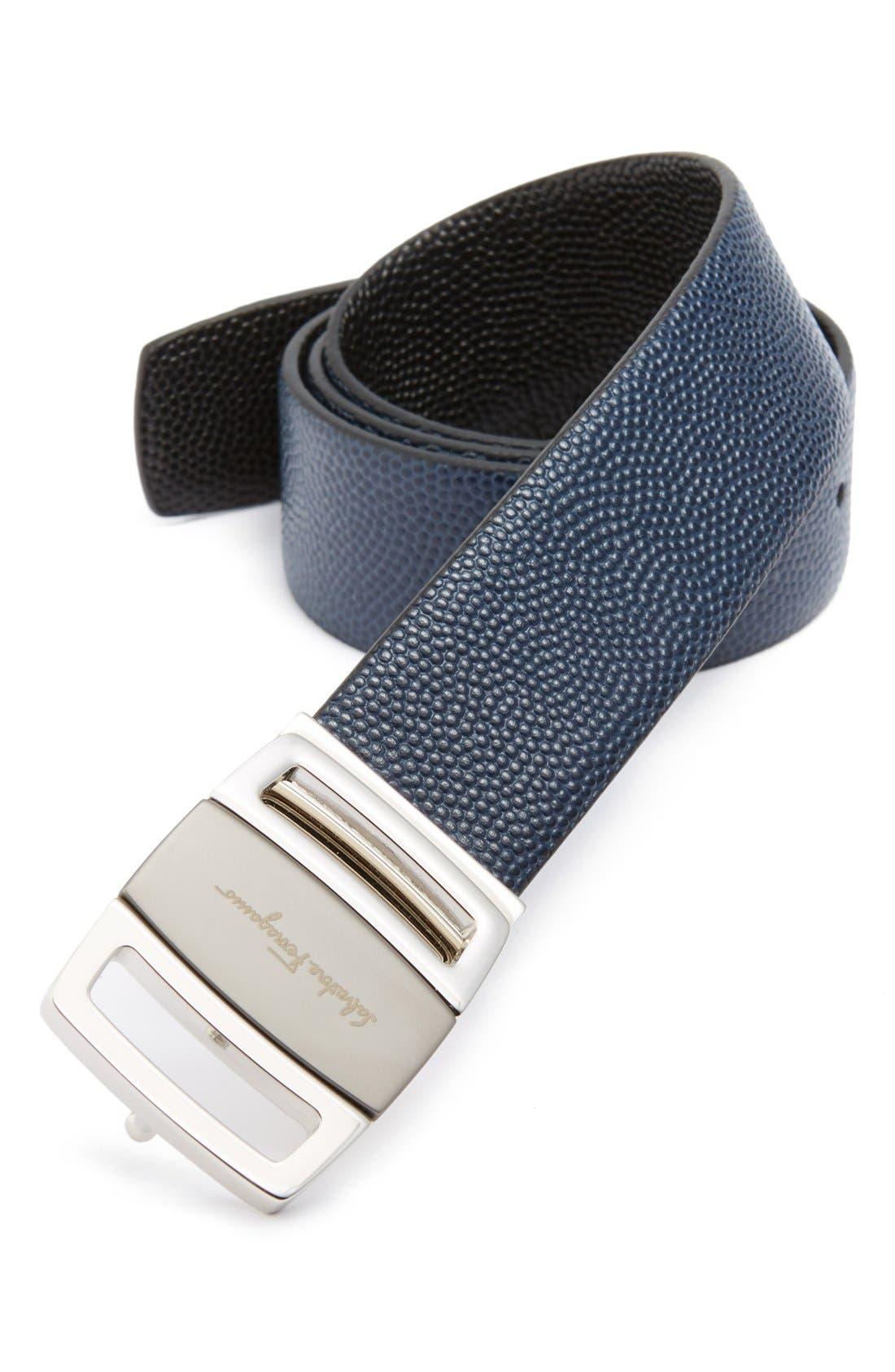 salvatore ferragamo calfskin leather belt nordstrom