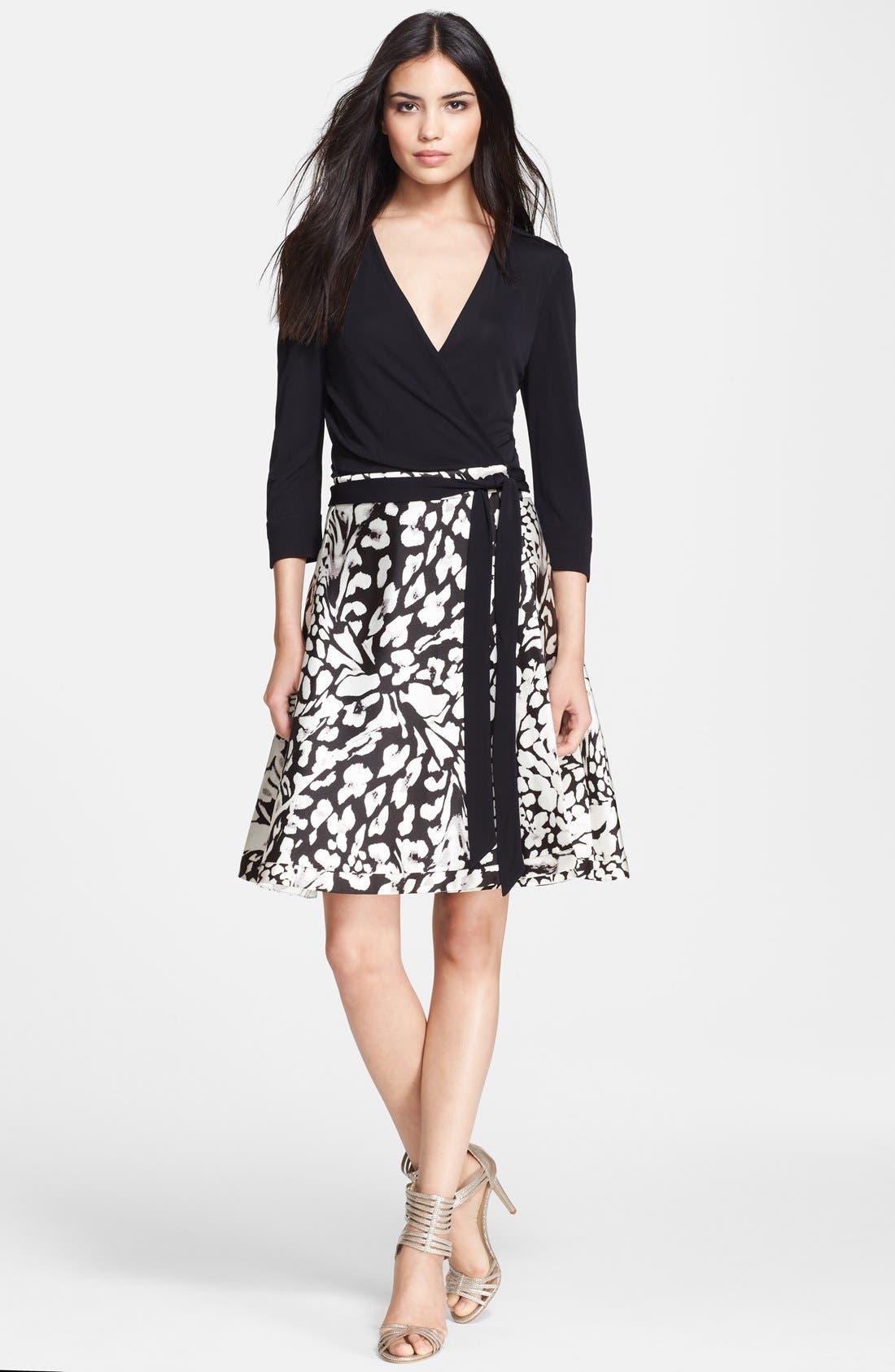 Alternate Image 1 Selected - Diane von Furstenberg 'Amelia' Cotton Blend Wrap Dress