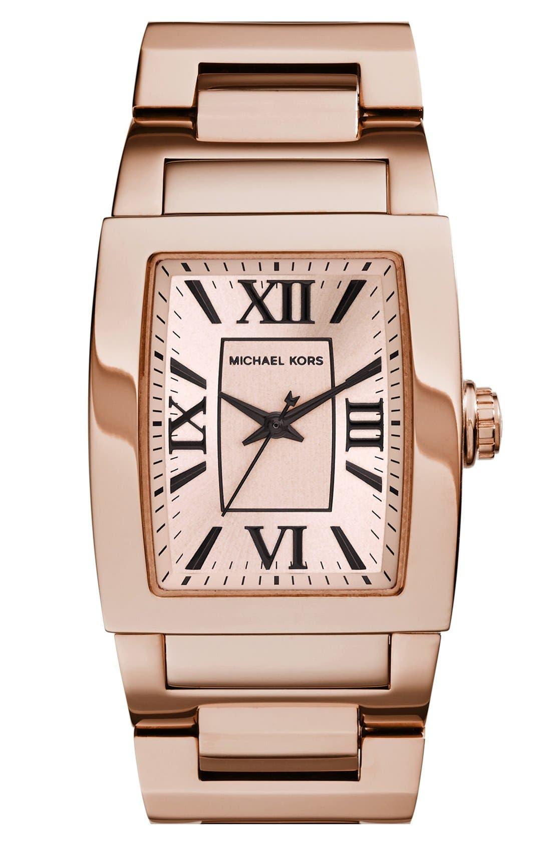 Alternate Image 1 Selected - Michael Kors 'Denali' Barrel Case Bracelet Watch, 38mm