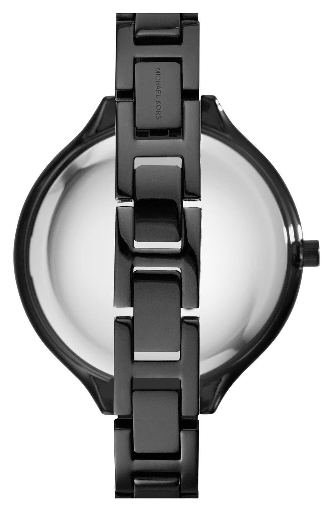 Alternate Image 2  - Michael Kors 'Slim Runway' Pavé Crystal Bangle Watch, 43mm