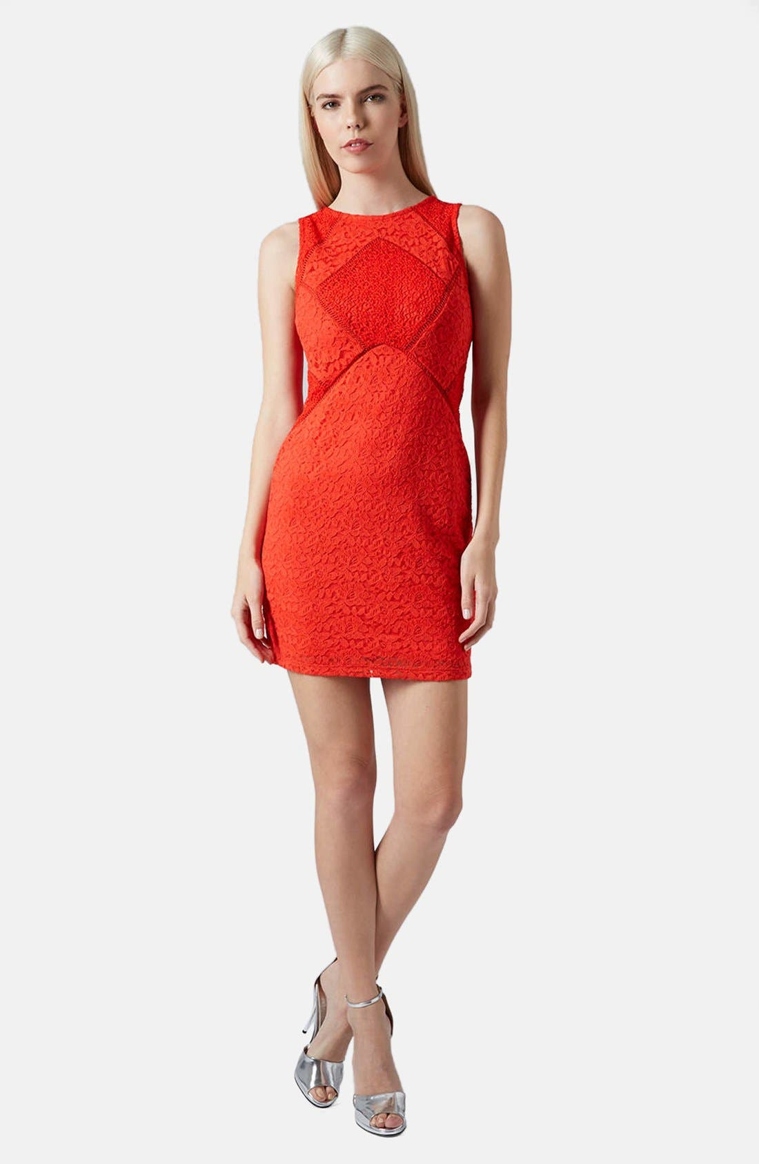 Alternate Image 5  - Topshop Mixed Lace Body-Con Dress