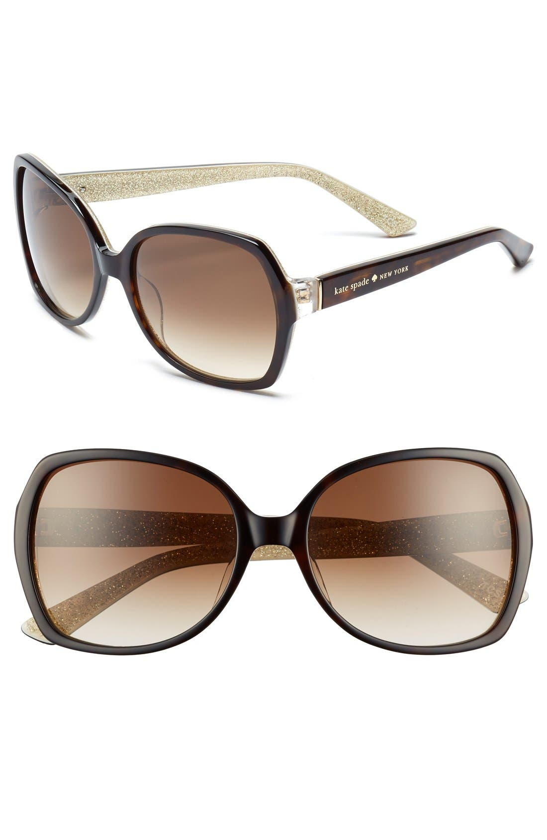 Alternate Image 1 Selected - kate spade new york 'halsey' 57mm sunglasses