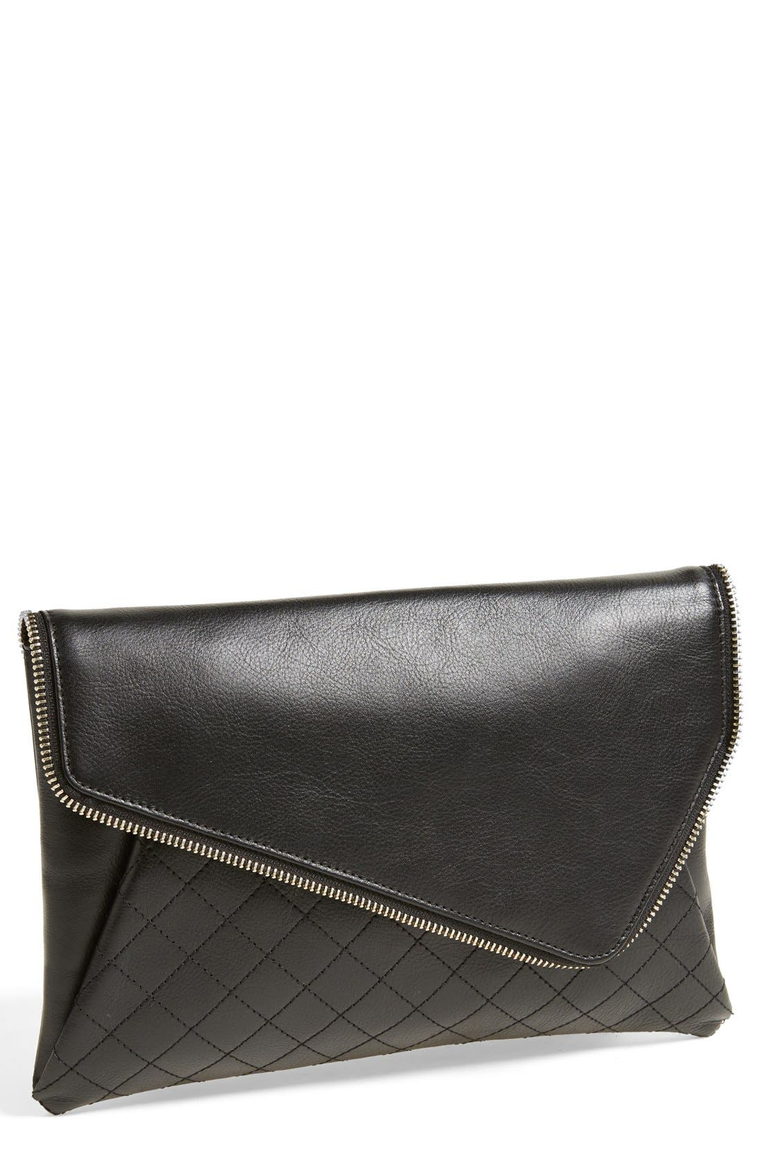 Alternate Image 1 Selected - Halogen® 'Date Night' Asymmetrical Flap Clutch