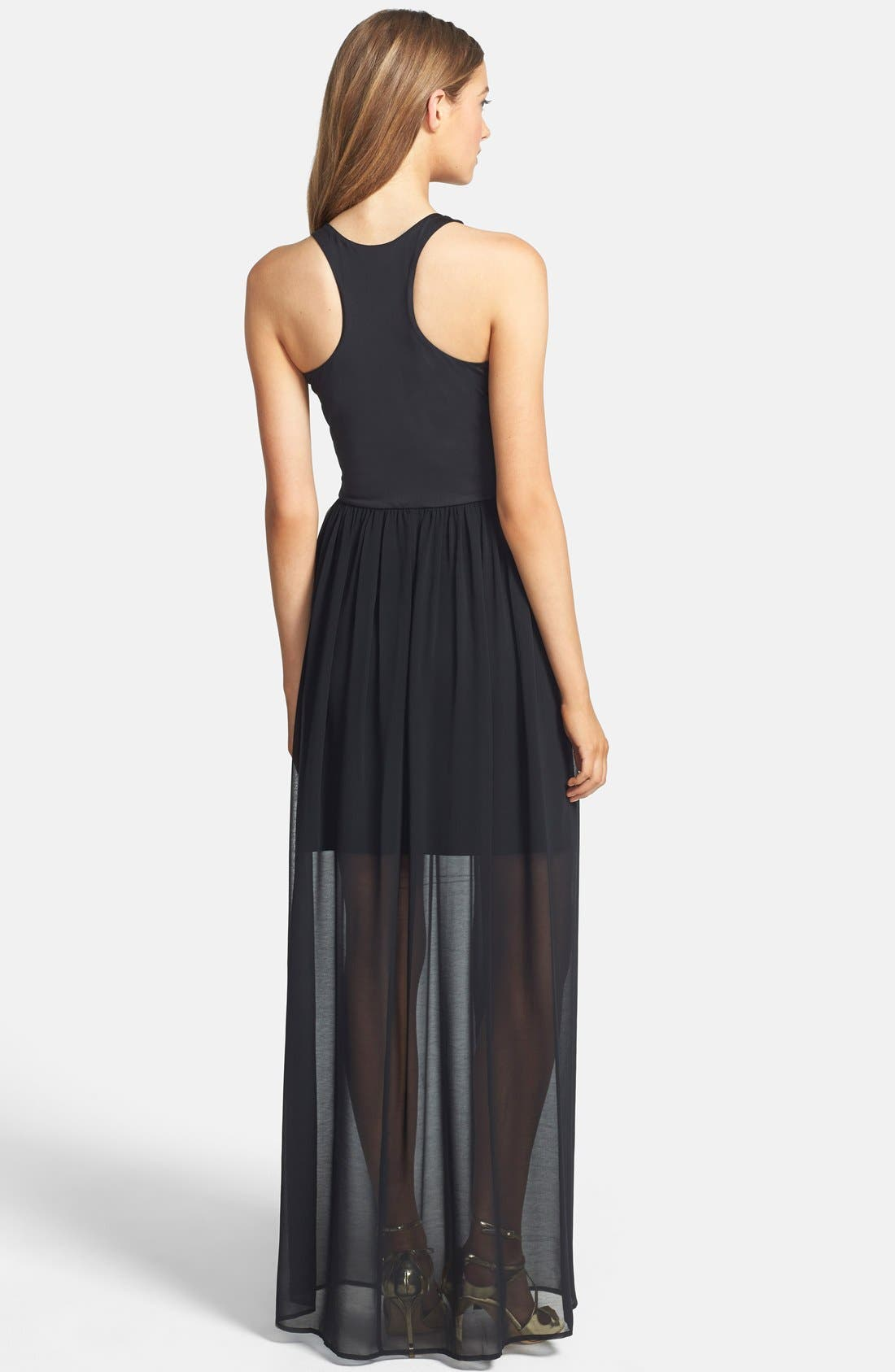 Alternate Image 2  - Felicity & Coco Chiffon Overlay Sleeveless Jersey Dress (Nordstrom Exclusive)
