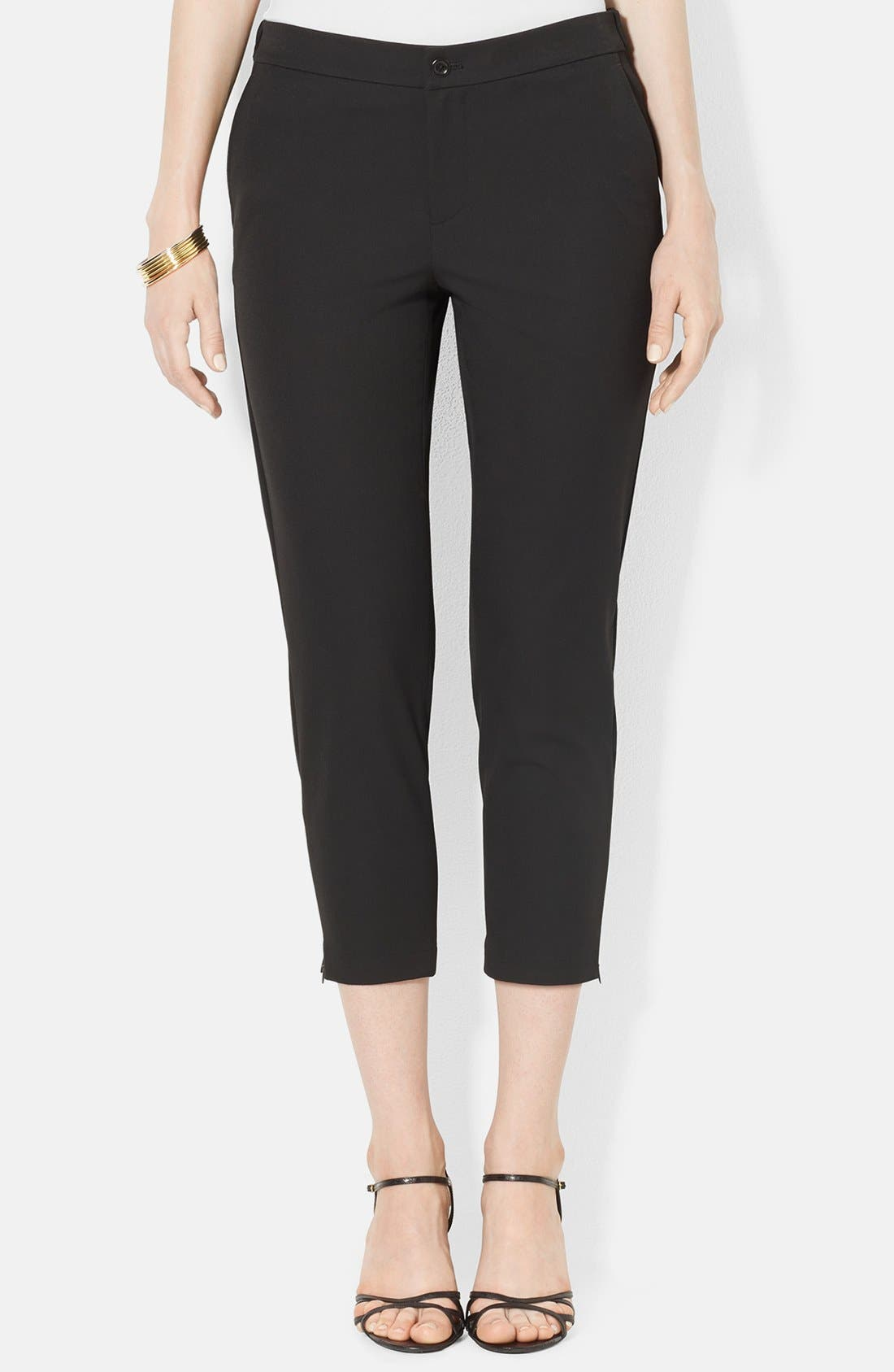 Alternate Image 1 Selected - Lauren Ralph Lauren Stretch Crop Skinny Pants (Petite)