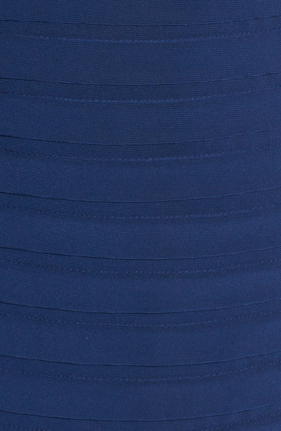 Alternate Image 4  - Adrianna Papell Shutter Pleat Jersey Sheath Dress (Regular & Petite)