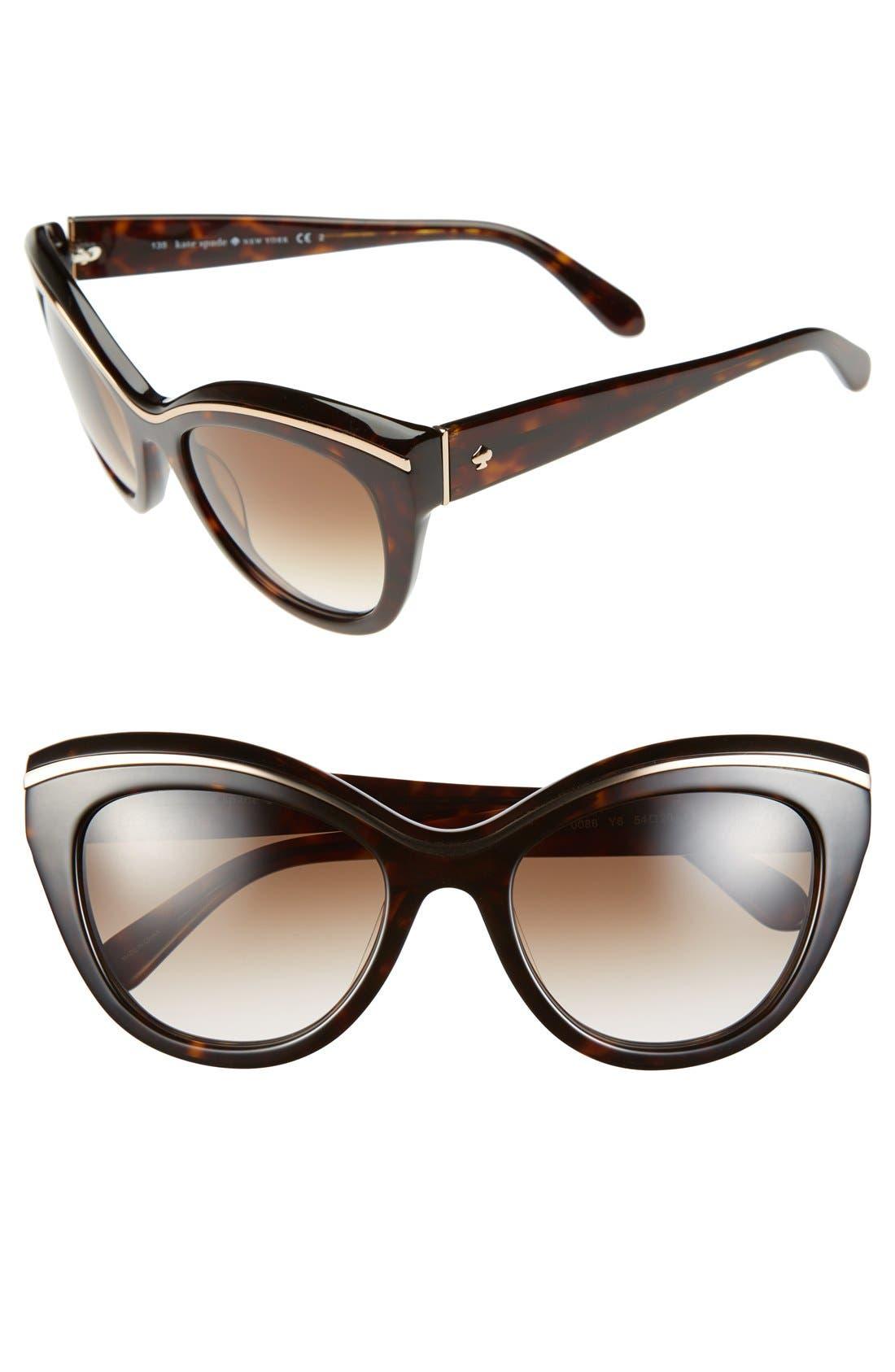 Alternate Image 1 Selected - kate spade new york 54mm cat eye sunglasses