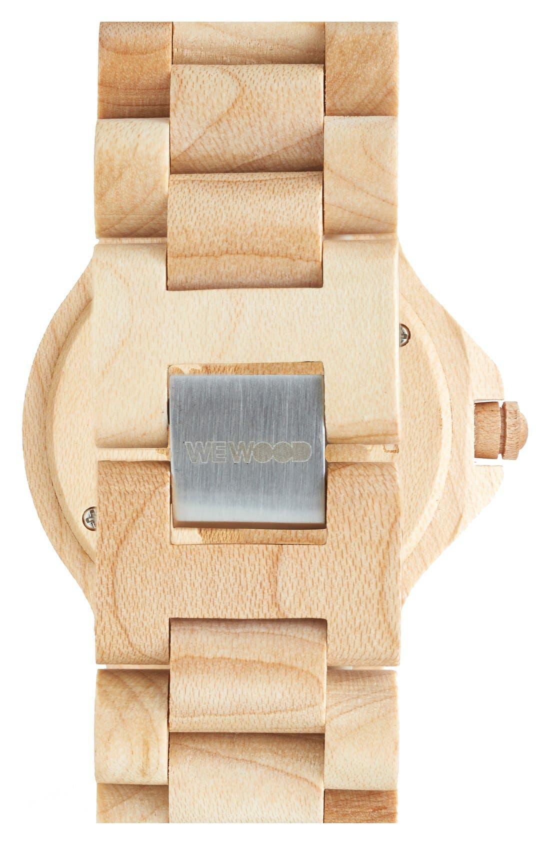 Alternate Image 2  - WeWOOD 'Kale' Wood Bracelet Watch, 42mm