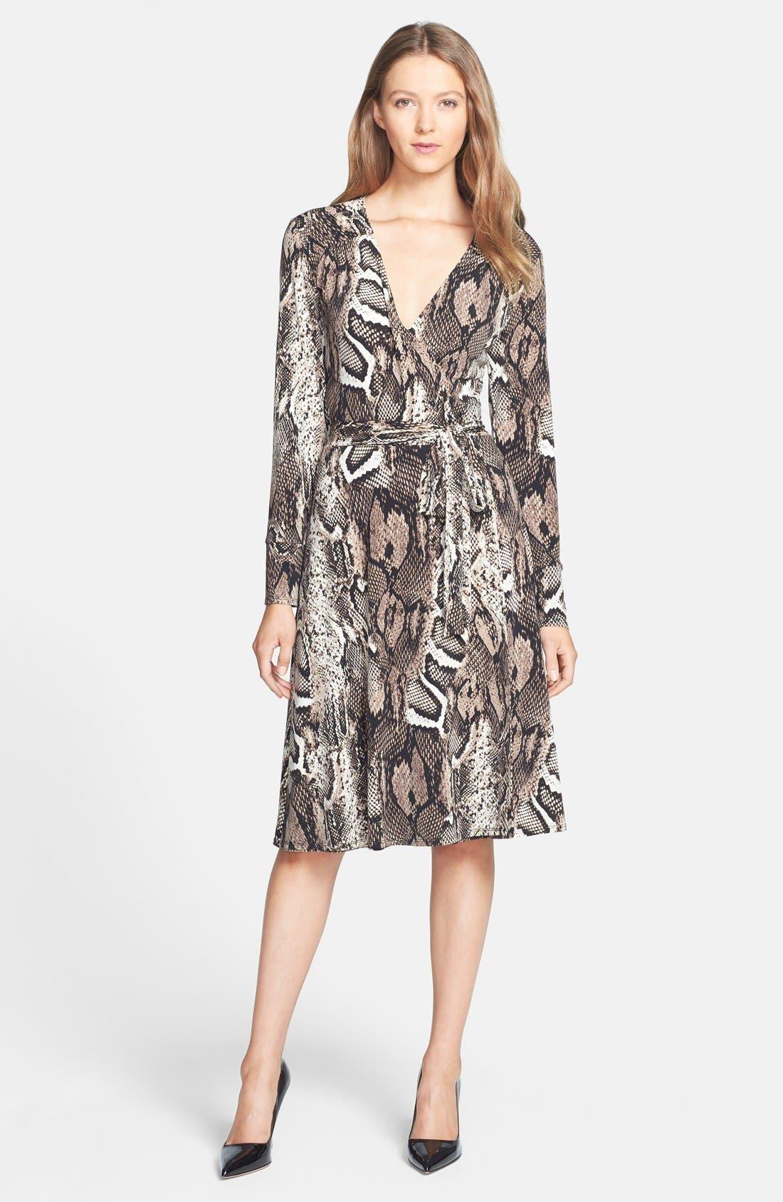 Alternate Image 3  - Donna Morgan Snakeskin Print Faux Wrap Jersey Dress